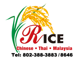 Rice Chinese Thai Malaysia Restaurant Middlebury Vt 05753 Menu